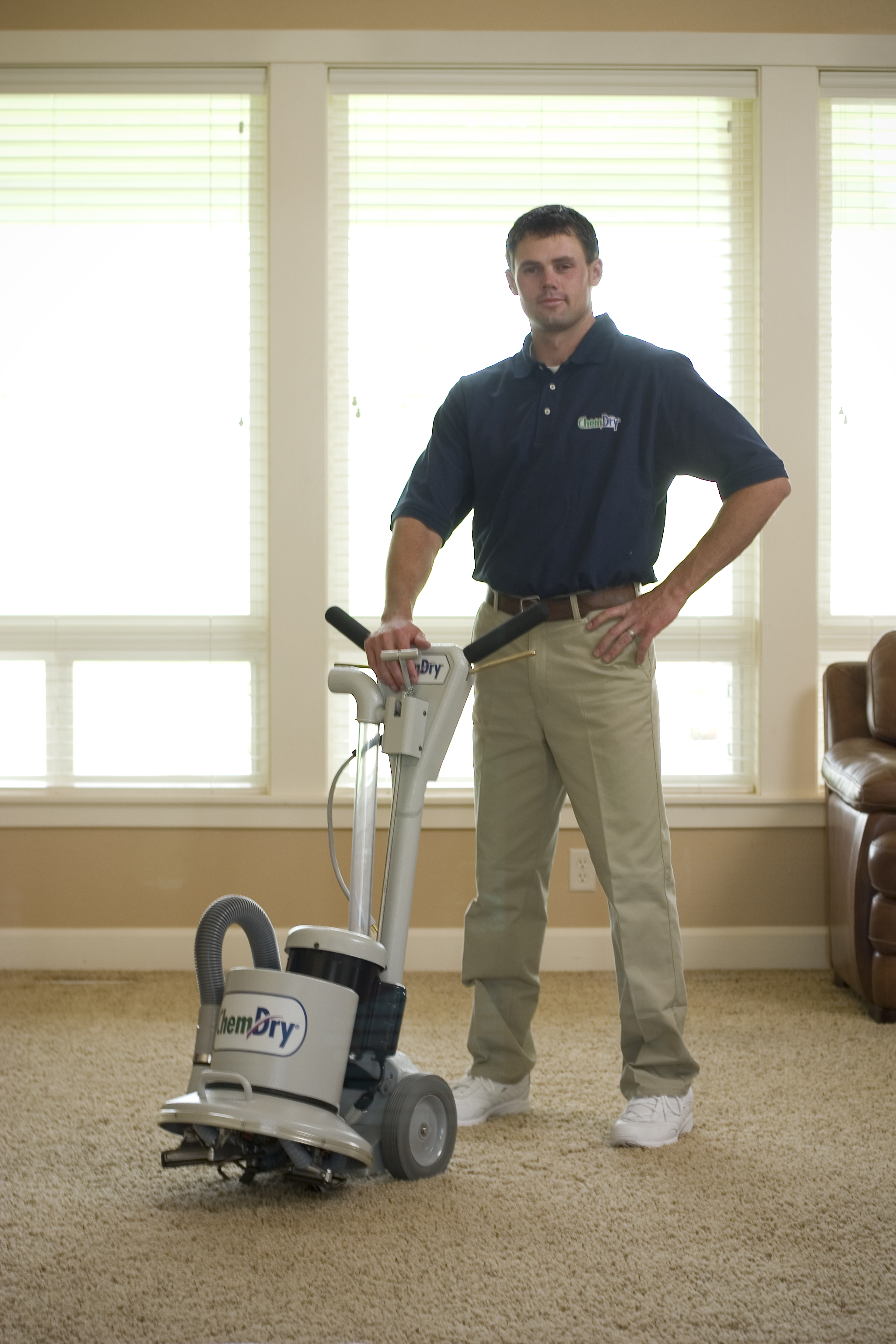 Chem-Dry of CSRA Technician Performing Professional Carpet Cleaning