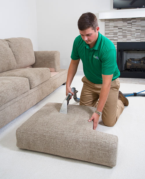 Chem Dry Of Csra Teachnician Providing Professional Upholstery Cleaning